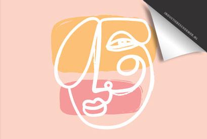 Face Pink Orange Inductie Beschermer
