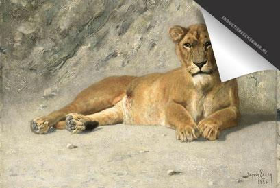 Rustende leeuwin Inductie Beschermer
