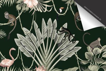 Jungle Apen Groen Inductie Beschermer