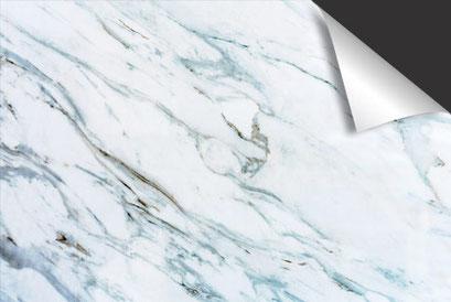 Marmer grijsblauw Inductie Beschermer