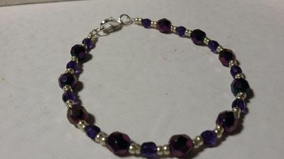 Bracelet cristal  et rocailles 9€