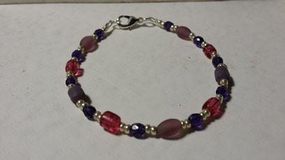 Bracelet cristal, verre et  rocailles  7€