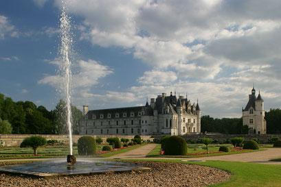 Château de Chenonceau, jardin de Diane de Poiters, INDRE-ET-LOIRE (37)  © Annick Maroussy