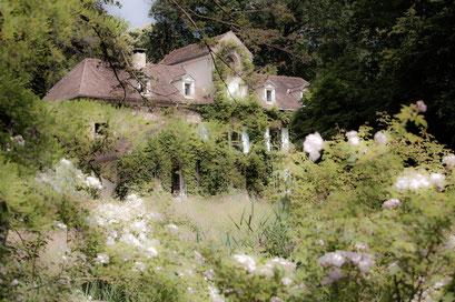 Jardin de l'Île verte, Châtenay Malabry, (92 Hauts-de-Seine),  la maison du peintre Jean Fautrier (1898-1964)