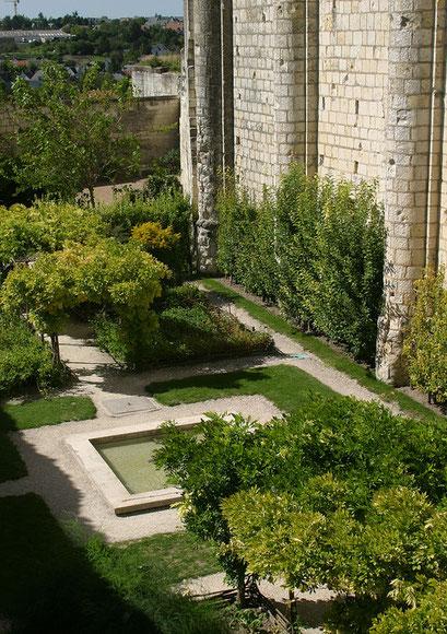 Jardin du château de Loches, INDRE-ET-LOIRE (37) © Annick Maroussy