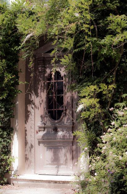 Porte, Jardin de l'Île verte, Châtenay Malabry,  (92 Hauts-de-Seine)