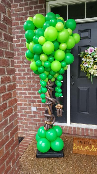 Air-Filled Balloon Column Tree Jungle Green