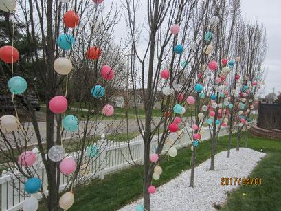 "Air-Filled 5"" Balloon Trees"