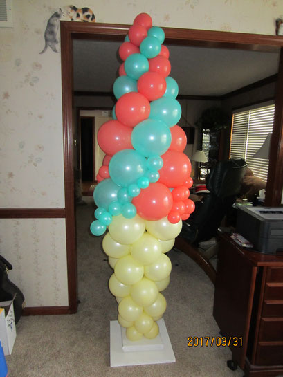 Air-Filled Balloon Ice Cream Cone Swirl Column