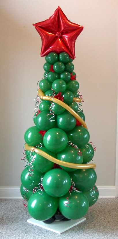 Air-Filled Christmas Tree Balloon Column Holiday