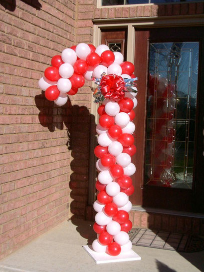 Air-Filled Candy Cane Balloon Column Christmas Holiday Xmas