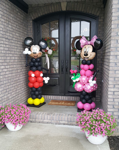 Air-Filled Balloon Sculpture Mickey Minnie Mouse