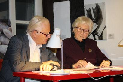Herr Schoormann und Frau Winkler lesen Briefe von Rilke und Paula Modersohn-Becker