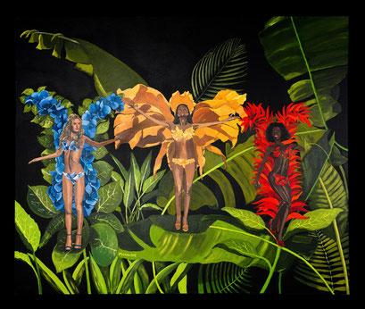FLOWERS OF BRAZIL - RIO DE JANEIRO - Acryl auf Leinwand - 120 cm x 100 cm
