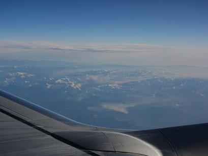 Die Berge von gaaanz weit oben zu sehen hat auch was schönes :-)
