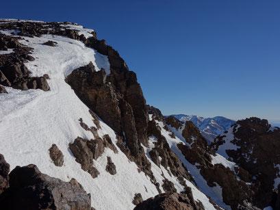 Der Gipfel in Reichweite