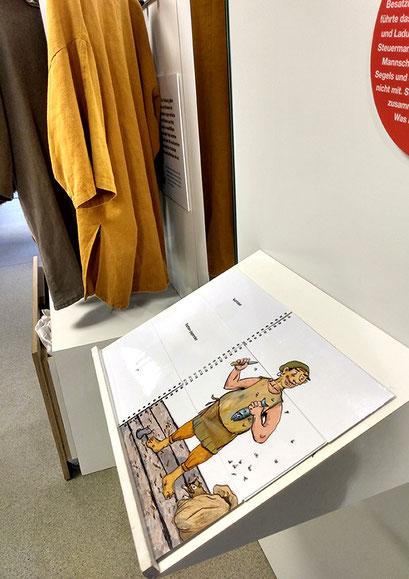 """Präsentation in der Ausstellung """"Segel, Salz und Silberlinge - Seehandel in der Hansezeit"""", im Museum Lüneburg, 2019"""
