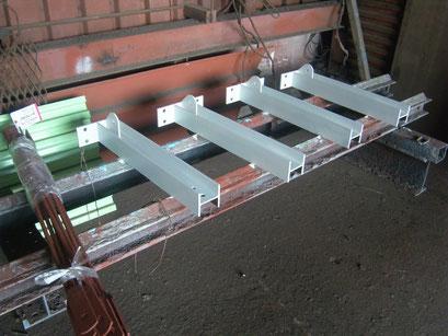 床上クレーン新設工事の工事写真