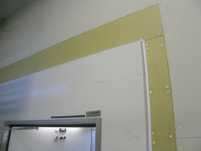 エアシャワー新設工事の工事写真