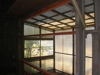スレ-ト工場改修工事の工事写真