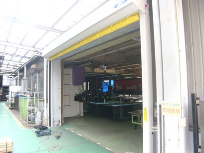 シートシャッター新設工事の工事写真