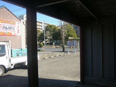 ガレージシャッター下地の工事写真