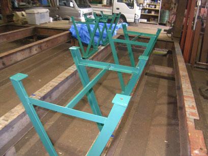パレット作業架台の工事写真