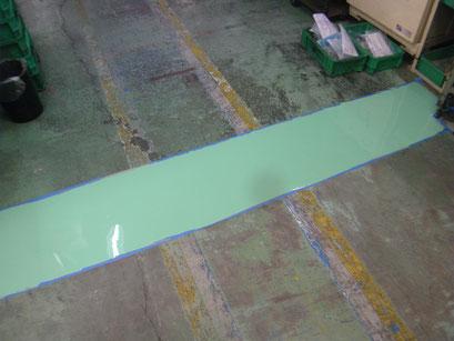 工場内床沈下修正工事の工事写真