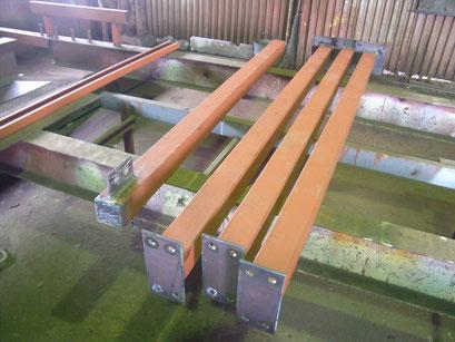 工場内中二階新築工事の工事写真