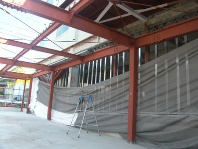 倉庫棟新築工事の工事写真