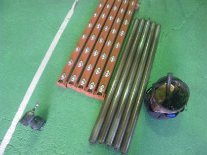 コンベアローラー改造の工事写真