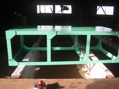 長尺台車の工事写真