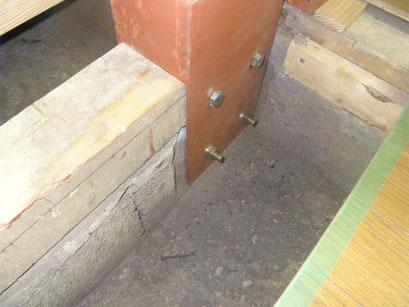 木造建物内部耐震補強の工事写真