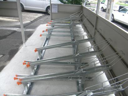 自転車置き場改造工事の工事写真