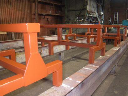 長尺板用作業台の工事写真