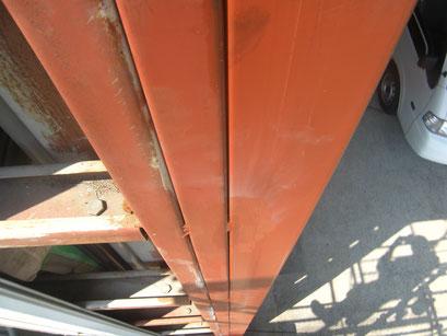 重量シャッター鉄骨下地:工事写真