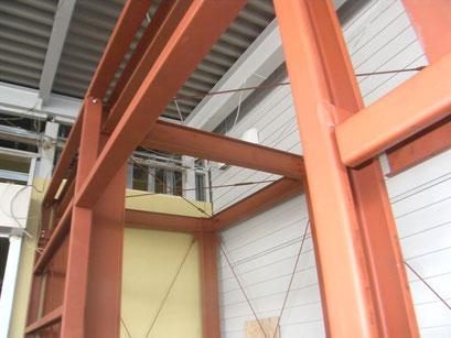 機械室鉄骨工事の工事写真
