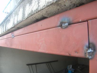 オーバースライダー鉄骨下地:工事写真