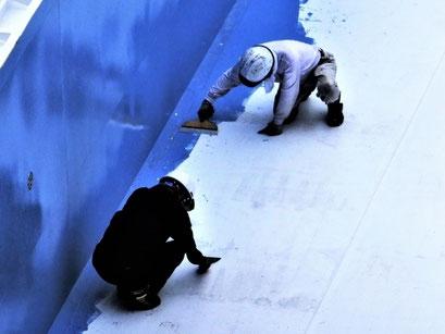 防水工の工事写真