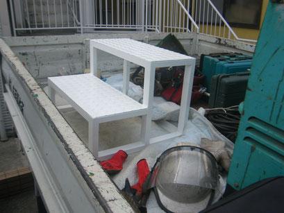 小上がり階段新設工事の工事写真