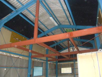 鉄骨造中二階新設工事の工事写真