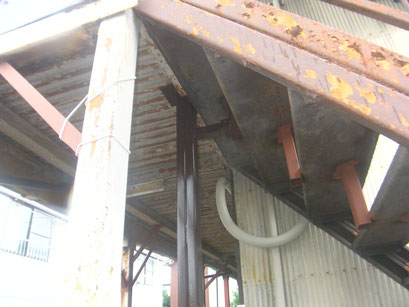 木造アパート補強柱:工事写真