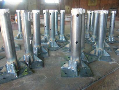 パイプフェンス工場製作の工事写真