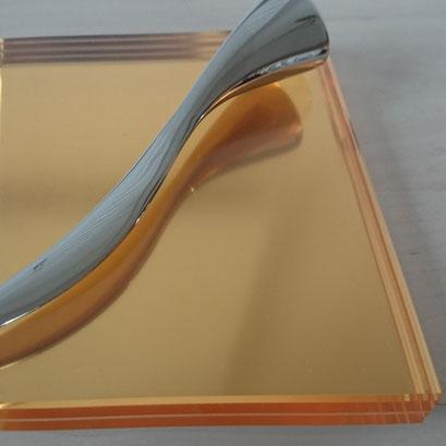 Decor Gold Glas FG, metallic von Kupfer, Altgold bis Bronze.