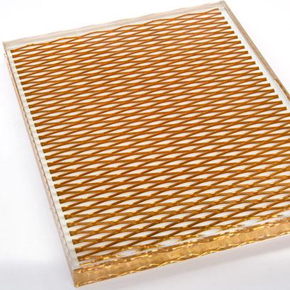 Ein edles Glas - Streckmetall in Verbundglas