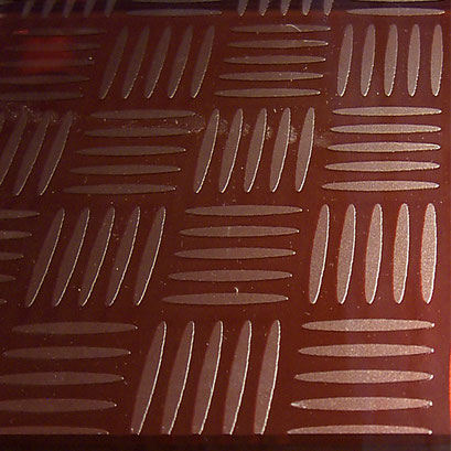 Ornament Glas für Treppenstufen - Wicker-Art Copper FG