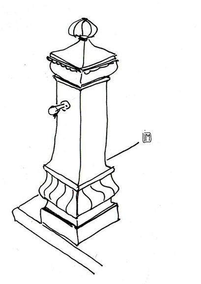 Une fontaine au Square Renaudel - 12/10/2013