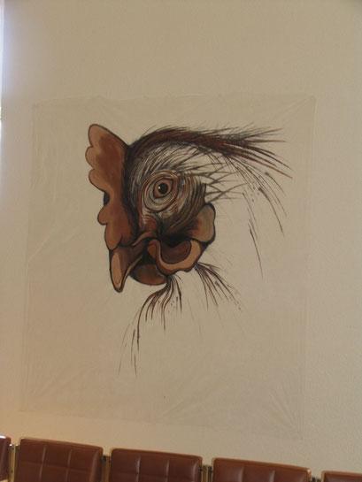 Peinture sur toile de jardin pour tatouer un mur