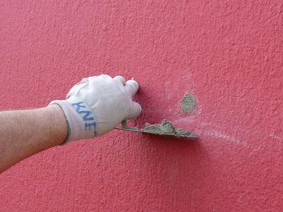 Fermeture puis peinture - Mise en place d'un joint entre briques