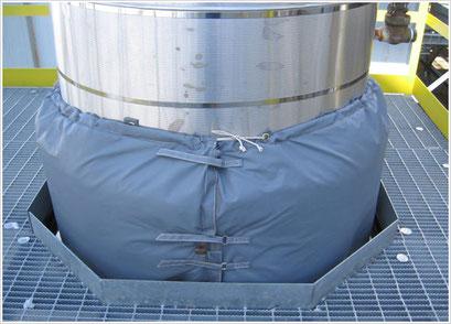 Chaussette équipée du matelas d'aérogels - Spaceloft®